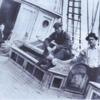 The photo of Harry Bell, Oscar and Gay Kline removing salvage from the Glenesslin