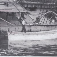 Harry Bell along side the Glenesslin working on the salvage of the wreck.