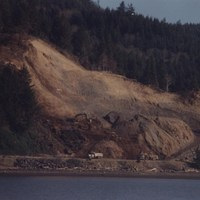 Photo of the slide area at Fisher's Point in 1996